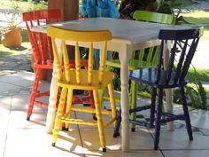 cadeiras colorida