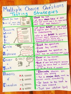 Test taking strategies ELA Test Prep Multiple Choice Strategies Test Taking Skills, Test Taking Strategies, Glad Strategies, Reading Test, 5th Grade Reading, Reading Lessons, Reading Workshop, 6th Grade Ela, Third Grade