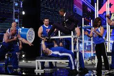 Omega Force Bench Pressing Nick Cannon | America's Got Talent | Chicago | #AGT