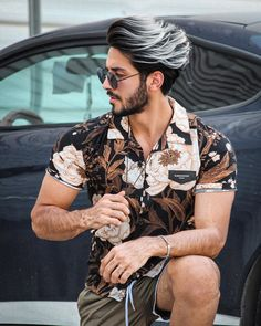 We Bring You The Best Simple, Stylish and Fashionable Outfit Ideas For Men That Every Men Would Love and Best Men's Fashion Styles From Male Models From All Over The World. Trendy Mens Hairstyles, Boy Hairstyles, Haircuts For Men, Hair And Beard Styles, Short Hair Styles, Dyed Hair Men, Men Hair, Mens Hair Colour, Hair Color