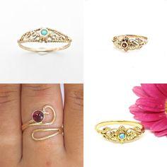 #jewelry #rings #bands #womensrings #opaljewelry #bluestonering #opalring #14kgoldring #ringsforwomen #filigreering #uniquering #blueopalring #solidgoldring #everydayring #stonering #daintyring #14kgoldring #solid14kring #promisering #engagementring #realgoldring