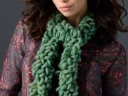Free One-Ball Crochet Loop Scarf Crochet Pattern From RedHeart.com