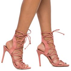 AMICA Lace Up Sandal in Blush at FLYJANE     Sexy Lace Up Sandal   Zara Blush Strappy Sandals under $50   Shoe Republic LA Keywest Key West Faux Suede Sandals