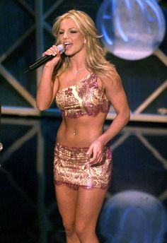 Britney hosting the American Music Awards in 2001