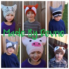 Knitting Patterns for Animal Hats