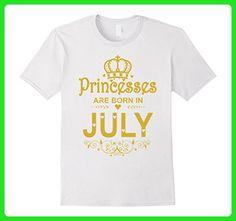 Mens Princesses Are Born in July T-shirt Funny Birthday Girl Gift Medium White - Birthday shirts (*Amazon Partner-Link)