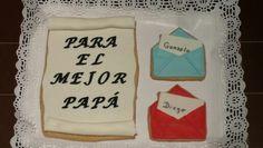 Galleta diploma y 2 cartitas para Papá!