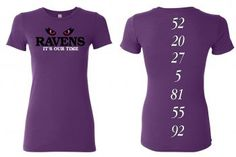 """Baltimore Ravens """"It's Our Time"""" T-shirt. Designed and hand silk screened by a Baltimore native."""