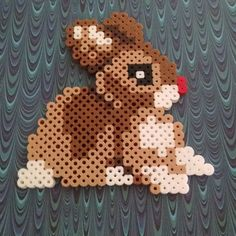 Easter rabbit perler beads by doucetcreations