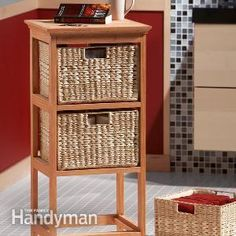 The secret to this handsome, durable basket stand is a biscuit joiner, which creates super-tough joints without metal fasteners or exposed wood dowels.