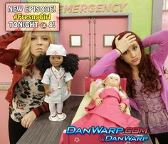 sam and cat stuck in a box | sam and cat promise to buy a doll for a girl if she