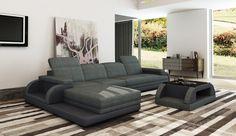 Divani Casa 5132 Modern Fabric & Bonded Leather Sectional Sofa - VGEV-SP-5132