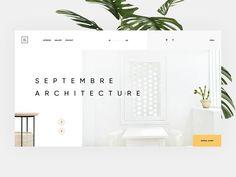 Architecture by Giga Tamarashvili on Dribbble Simple Web Design, Creative Web Design, Web Design Tips, App Ui Design, Interface Design, Layout Design, Web Portfolio, Creative Portfolio, Portfolio Design