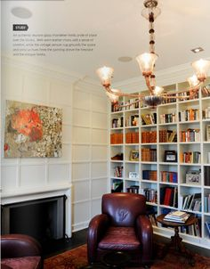 Beautiful study in a green-renovated historic home. Thinking i could do this in the front room of 1890 house that was originally the livingroom. Its such small area that i really rather have sunroom built on to make it the livingroom off the kitchen in back of house.
