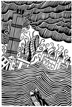drawdrawdraw: Stanley Donwood: drawing / screenprinting