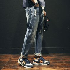 27.76$  Buy here - https://alitems.com/g/1e8d114494b01f4c715516525dc3e8/?i=5&ulp=https%3A%2F%2Fwww.aliexpress.com%2Fitem%2F2016-Men-Style-Fashion-Hole-Jeans-Denim-Harem-Pants-Hanging-Crotch-Ripped-Vintage-Classic-Jeans%2F32739887623.html - 2016 Men Style  Fashion Hole Jeans  Denim Harem Pants Hanging Crotch Ripped Vintage Classic Jeans