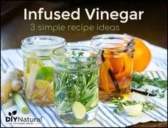Making infused vinegar is a simple and fun process. Also, it gives you a product, suited to your palate, that lends a flavor blast to your favorite dishes! Make Apple Cider Vinegar, Homemade Apple Cider, Flavored Oils, Infused Oils, Infused Water, Real Food Recipes, Simple Recipes, Jar Recipes, Canning Recipes