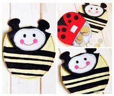 Felt Ladybug purse pattern - Red Brolly