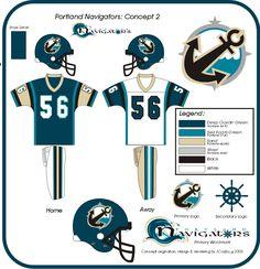 JCrosby Designs : Portland Navigators 2 (museum) College Football Uniforms, Nfl Football Helmets, Sports Uniforms, Football Team, Hockey Logos, Sports Team Logos, Sports Teams, Fred, Jersey Boys