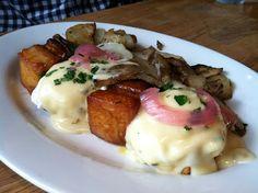Pork Belly Eggs Benedict - Green Eggs Cafe