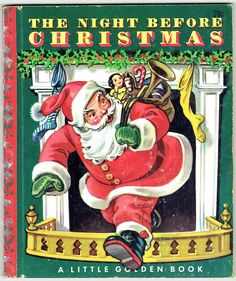Vintage Little Golden Book THE NIGHT BEFORE CHRISTMAS ~ Christmas Spine