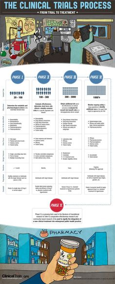 Understanding the Phases of Clinical Trials (INFOGRAPHIC)  http://medicalinfographics.wordpress.com/2012/09/18/understanding-the-phases-of-clinical-trials-infographic