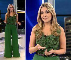 moda do programa Domingo Espetacular - look da Thalita Oliveira dia 27 de julho