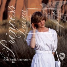 Princess Diana stamps : Antigua PRINCESS DIANA 50TH BIRTHDAY S/S ...