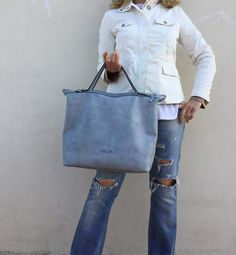 Items similar to Waxed leather bag/ leather blue-gray bag/ Leather tote bag/ Modern laptop/ Crossbody bag,Grey leather tote on Etsy Tote Bags Handmade, Leather Bags Handmade, Nude Bags, Grey Leather, Distressed Leather, Best Bags, Leather Pouch, Large Bags, Free Shipping