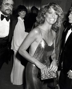 Gone too soon! Who can forget that famous feathery hair. Farrah Fawcett. From Glamour