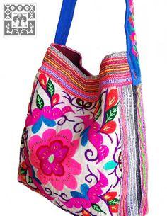 Vintage Hmong Fabric bag ethnic shoulder messenger sac HBm2013-03 Flowers birds embroidery
