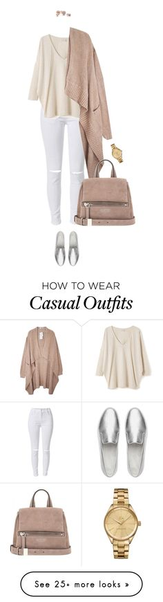 """""""It's time for Casual Chic !"""" by azzra on Polyvore featuring EAST, Givenchy, Lacoste, GUESS, FitFlop and winterwhite"""
