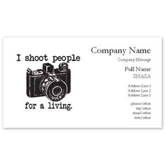 Life is like a camera photography quote wise words and thoughts i shoot people business cards on cafepress colourmoves