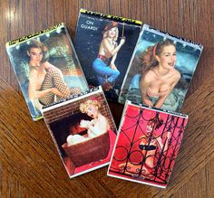 PIN-UP Girls MATCHBOOKS Vintage Matchbook by AccumulationsBazaar