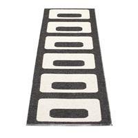 Owen rug black - 70x160 cm - Pappelina
