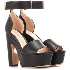 Nicholas Kirkwood Maya Suede Platform Sandals (€660) ❤ liked on Polyvore featuring shoes, sandals, black, nicholas kirkwood shoes, platform shoes, suede sandals, suede platform sandals and black suede shoes