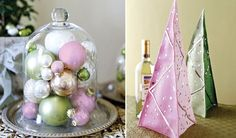 Toast and Tables: THINK PINK (and green) for a Christmas tablesetting