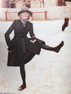 Aging gracefully and with an enormous sense of humor a la Diane Keaton.