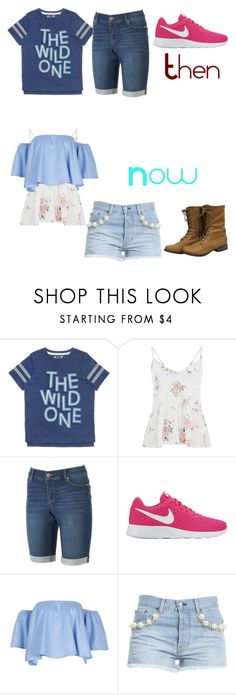 """Then to Now, my fashion evolution"" by alanacouch on Polyvore featuring Juicy Couture, NIKE and Forte Couture"