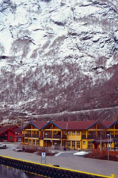 Flam, Norway - the Norway in a Nutshell tour stops in this town for an hour. Includes free entrance to the Flåm Railway Museum