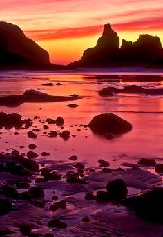 ~~Velvia Sunset   a beautiful dusk light falls on the Pacific Ocean, Tillamook, Oregon by Bobshots~~