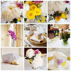 Nice closeup photos of the peony wedding centerpieces. Spring Wedding Colors, Yellow Wedding, Dream Wedding, Peonies Wedding Centerpieces, Wedding Flowers, White Peonies, Yellow Roses, Pink White, Background Decoration