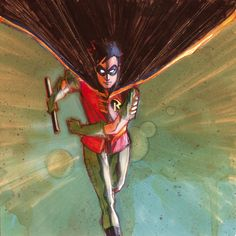 Robin by Phil Noto Nightwing, Batgirl, Catwoman, Comic Book Artists, Comic Books, Phil Noto, Good And Evil, Cool Sketches, Gotham