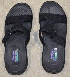3fff033f6d23 SKECHERS Women s Black Reggae Desert Escape Sandal Size 7 Medium Width   Skechers  Sandal