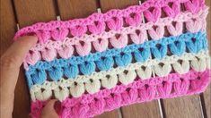 Kolay Fıstık Lif / Battaniye / Puff Stitch Blanket