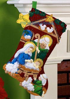 Details about Bucilla Nativity ~ Felt Christmas Stocking Kit Manger Jesus Mary Lamb Felt Stocking Kit, Christmas Stocking Kits, Felt Christmas Stockings, Cute Stockings, Christmas Nativity, Christmas Crafts, Christmas Decorations, Christmas Ornaments, Holiday Decor