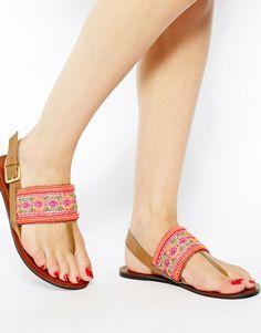 ASOS FUNHOUSE Flat Sandals Chaussures Plates, Accessoires, Placard À  Chaussures, Sac À Chaussures 750ddd3b2306