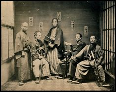 Samurai. ~ photo was taken sometime between 1860 – 1880