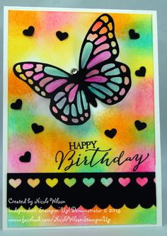 Nicole Wilson Independent Stampin' Up! Demonstrator: New goodies on my first card for 2015