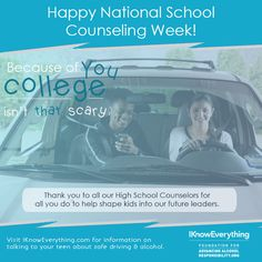 The teenage years can pose tons of challenges. Thanks to our nation's school counselors for helping high schoolers navigate these waters during National School Counseling Week!